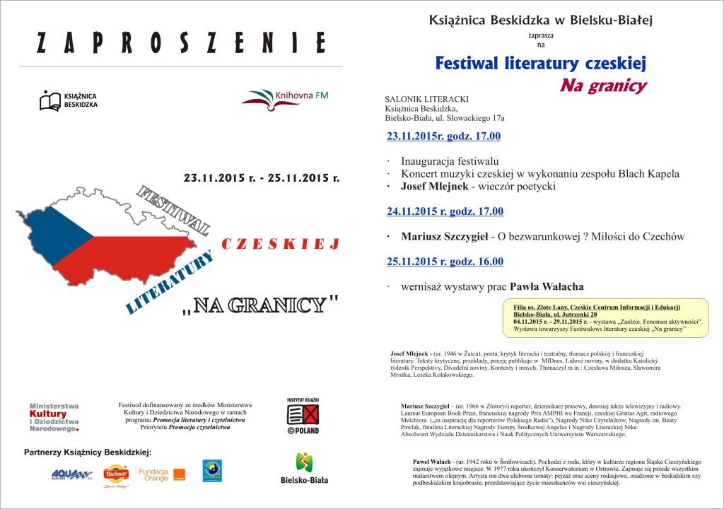 zaproszenie festiwal czeski
